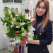 We delivered a bouquet of white lilies to Chelyabi
