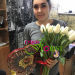 bouquet of white tulips was delivered to Kerch