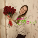 We delivered a bouquet of roses to Novosibirsk