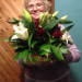 Basket of roses and lilies delivery to Petersburg