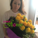Bouquet of yellow roses deliverd to Moscow