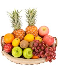 This nice basket has enough fruit to share with someone!